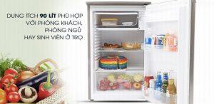 Dung tích sử dụng 90 lít tủ lạnh Beko