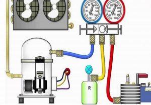Sơ đồ hướng dẫn nối đồng hồ đo gas với bình gas và cục nóng điều hòa